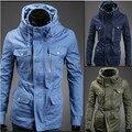 2015 otoño y el invierno la edición de Han cultiva de una de marea moralidad doble cuello de la chaqueta, más diseño de bolsillo, capa de la chaqueta ocasional