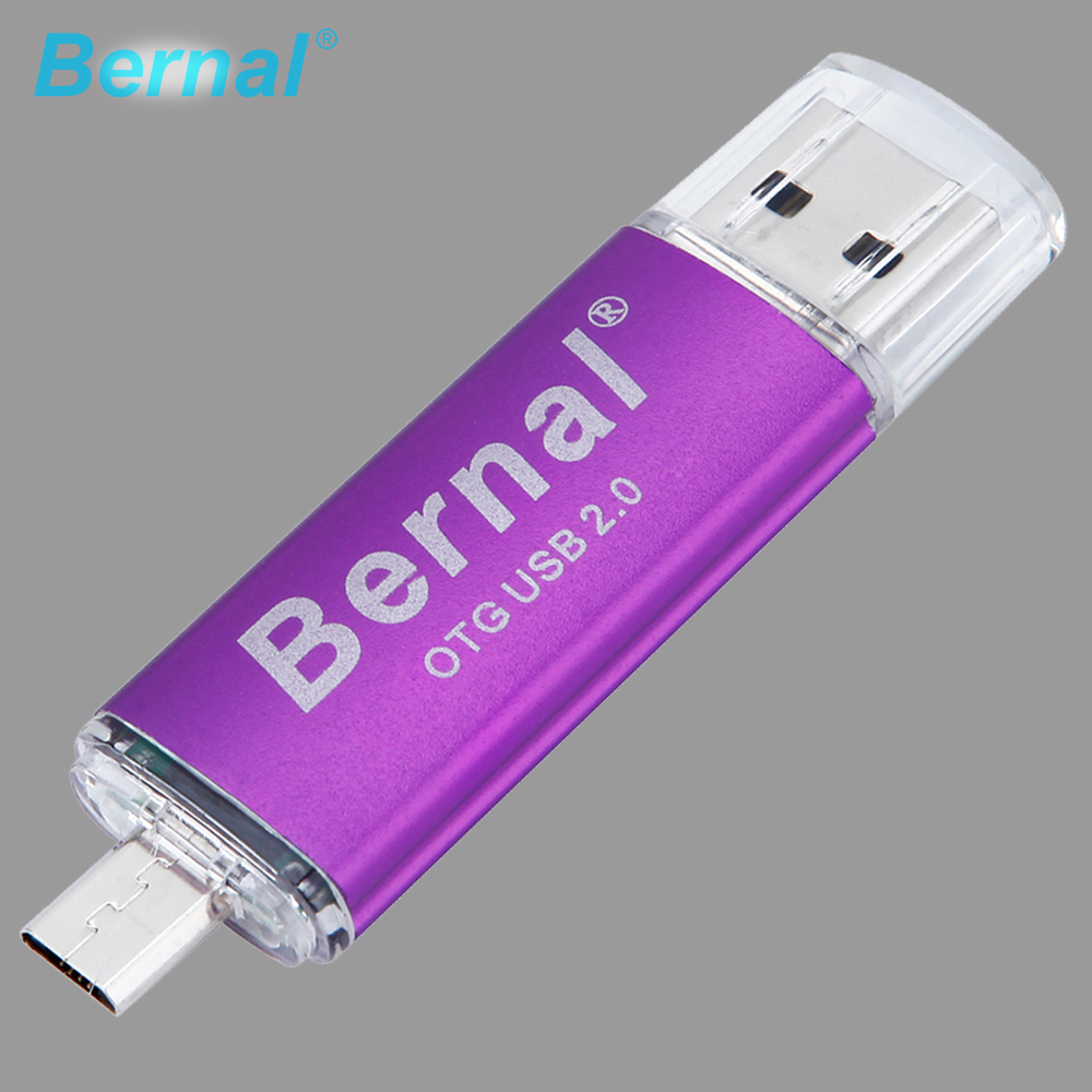 Bernal Colorful OTG USB flash drive 8gb metal smartphone OTG usb pendrive 4gb 8gb 16gb 32gb 64gb double Interface USB disk 2.0