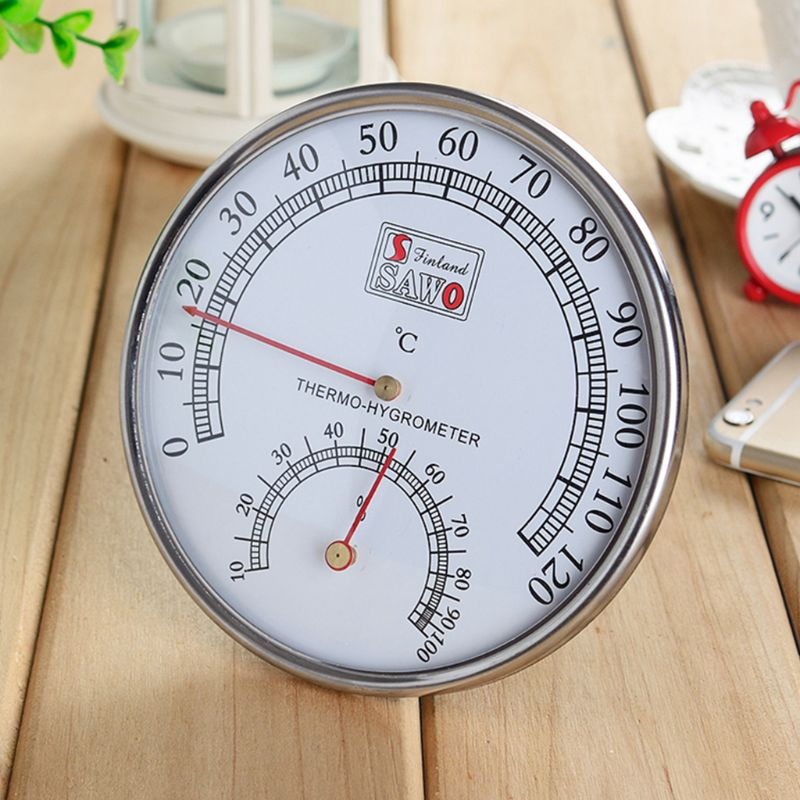 Sauna Thermometer metal Case Steam Sauna Room Thermometer Hygrometer Bath And Sauna Indoor Outdoor Used