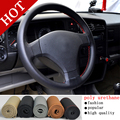 Hot Sale New Universal Anti-slip BreathablePU Leather DIY Car Steering Wheel Cover Case With Needles and Thread Free Shipping