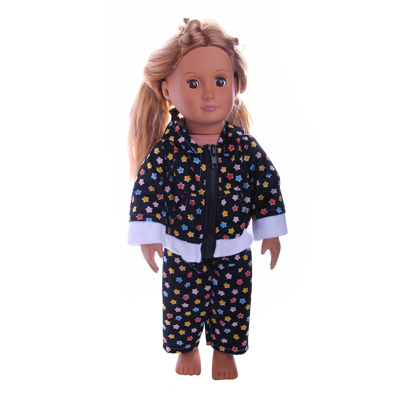New Style Baby Doll Clothes Accessories Derss Fit 18 Inches American Girl Doll Lovely casual wear n928