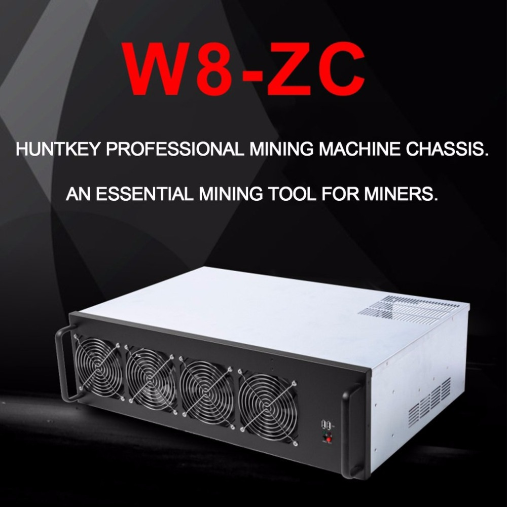 W8-ZC Professional Mine Mining Machine Chassis 8 Graphics Server Chassis with 7 Fans Mining Case Frame Single Power Supply new 3u ultra short computer case 380mm large panel big power supply ultra short 3u computer case server computer case