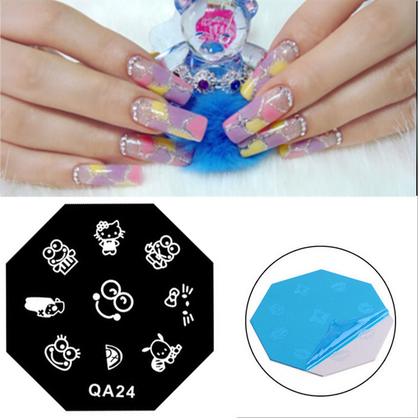 Cute Frog Pattern Nail Art Stamping Plate Mesh Spray Pattern Stamp ...