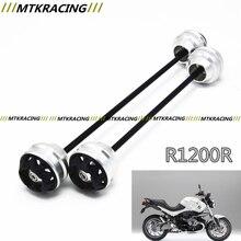 MTKRACING para BMW R1200R 2006-2014 CNC Modificado + rueda Delantera de la Motocicleta caída de bola/amortiguador