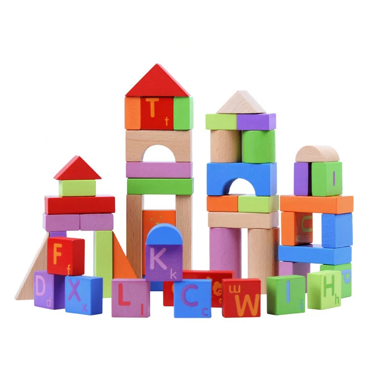Chanycore Baby Learning Educational Wooden Toys Blocks Jenga Cube Building House 51pcs mm Geometric Shape Kids Gifts 4185 32 pcs setcolor changed diy jigsaw toys wooden children educational toys baby play tive junior tangram learning set