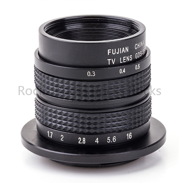 Television TV Lens/CCTV Lens work for Micro 4/3 Mount Camera 35mm F1.7in Black
