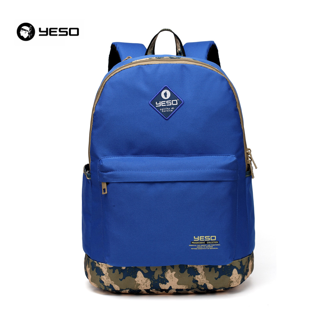 2016 New YESO Brand Designer College Women Canvas School Backpacks for Girls Boys Student  Laptop Casual Men Backpacks 6 Colors