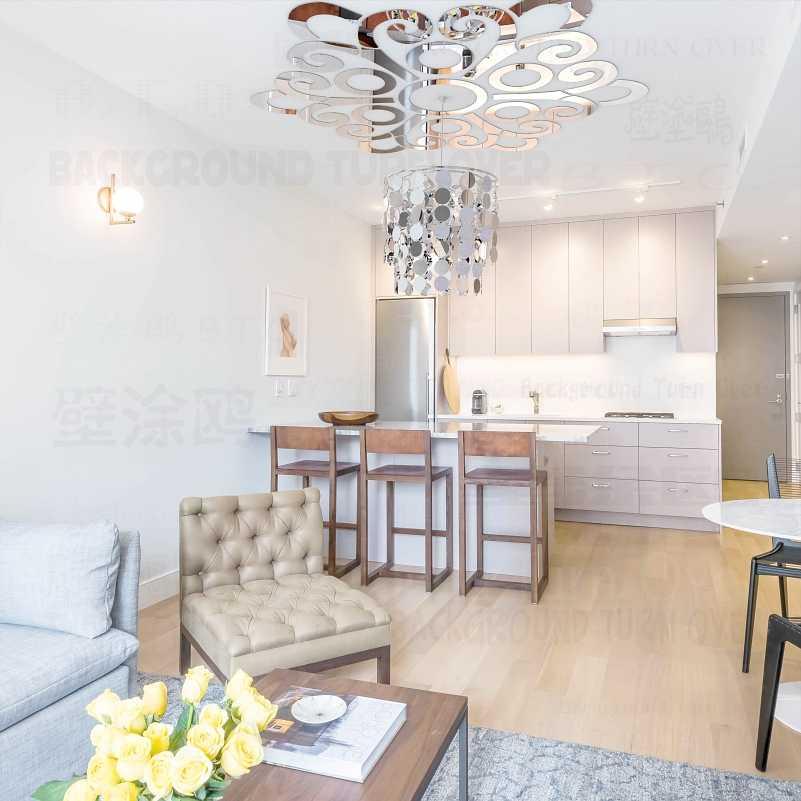Цветочный узор, отражающее 3D потолочное зеркало, декоративная настенная наклейка, украшение для гостиной, спальни, домашний декор, R047