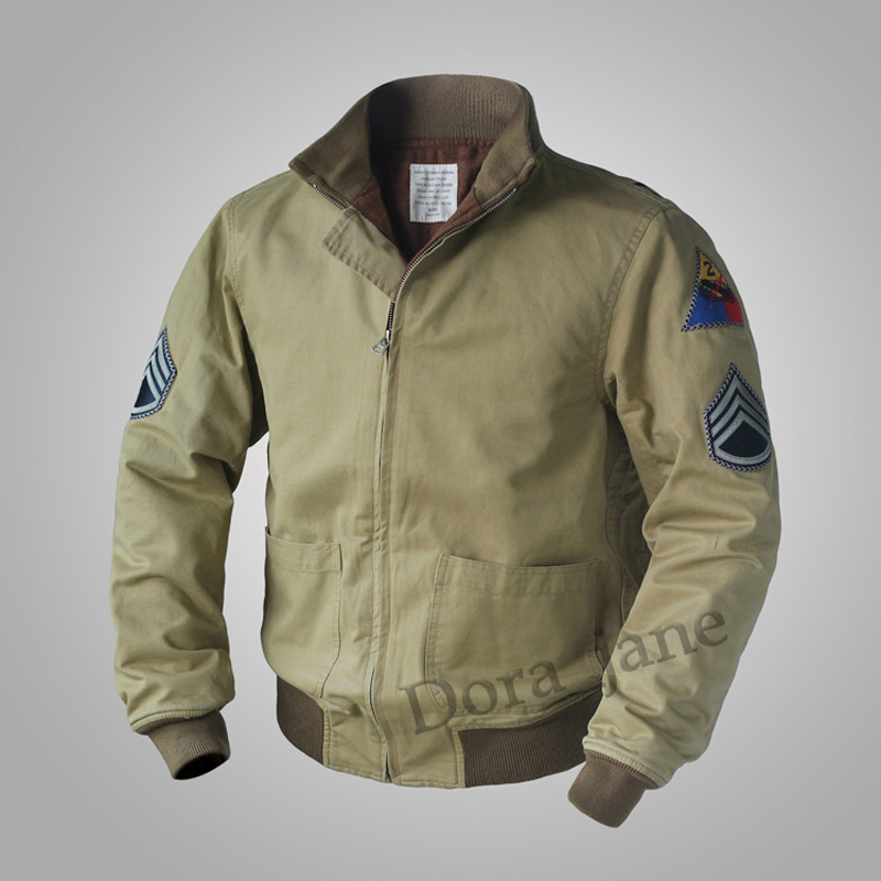 FURY SAME Replica M41 TANK PATCH POCKET Jacket Vintage Wool WW2 Mens Military Coat Army Fall/Spring Outwear 36-44#