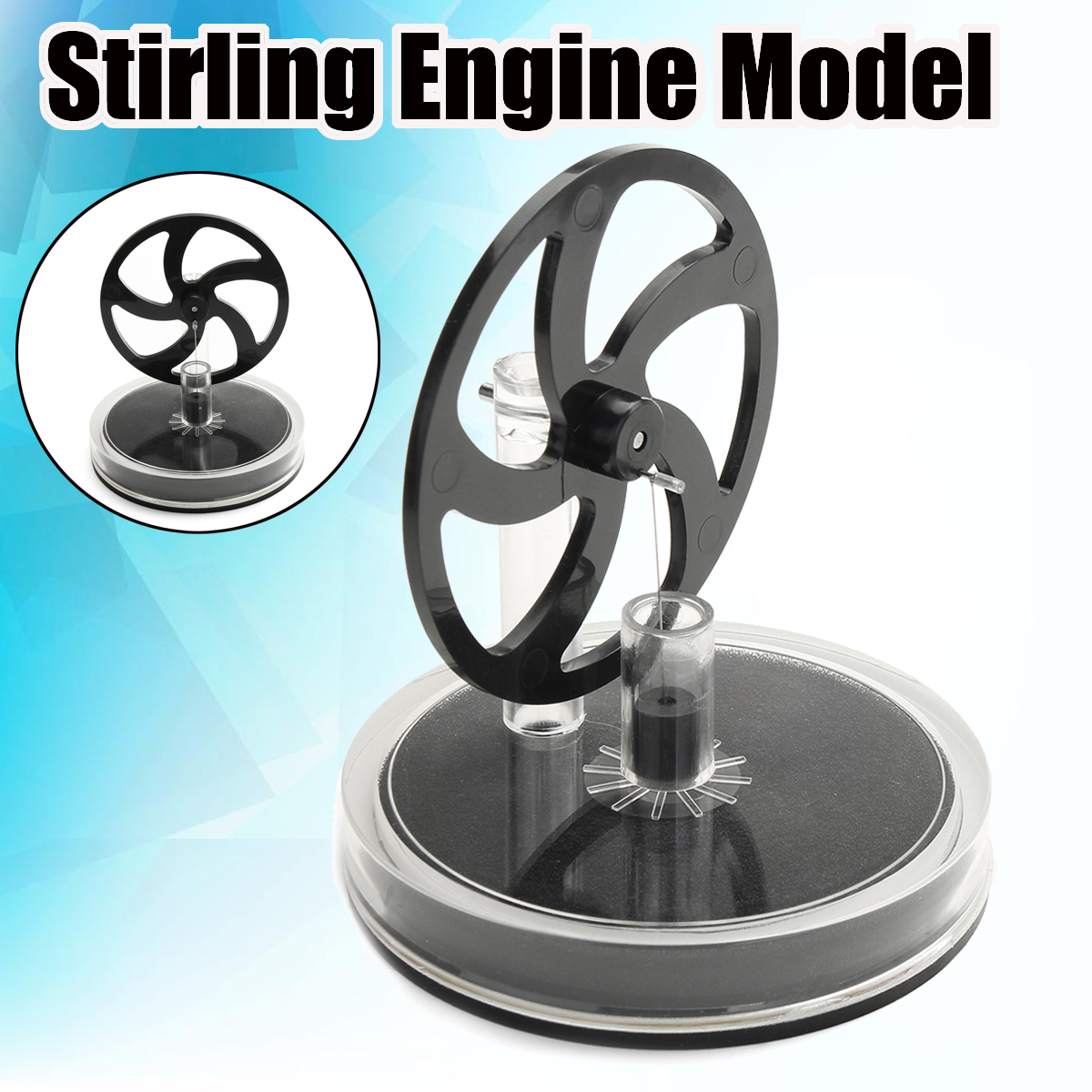 Discovery Toys Low Temperature Mini Air Stirling Engine Motor Model Heat Steam Education Toy Science Experiment Kit Toy Gift 探索科学百科 discovery education(中阶)2级a3·泰坦尼克与冰山