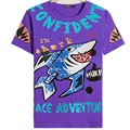 2016 USA Russia Loose Colorful Lovely  shark Summer 8XL MenT-shirt Oversize Print Men Top Lycra Cotton Outerwear Streewear Tees