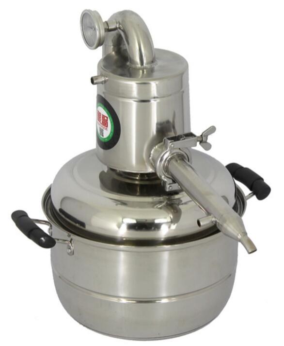 Nuovo In Acciaio Inox 10L/15L Acqua Distillatore Alcol Birra Fatta in Casa Kit Ancora Vinificazione Essenziale Caldaia A Gasolio