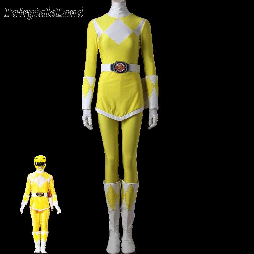 Yellow Tiger Ranger cosplay costume adult Female Halloween costumes Rangers cosplay Zyuranger Yellow Ranger costume custom