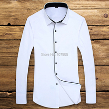 Men Long Sleeve Business Formal Shirt Slim Fit