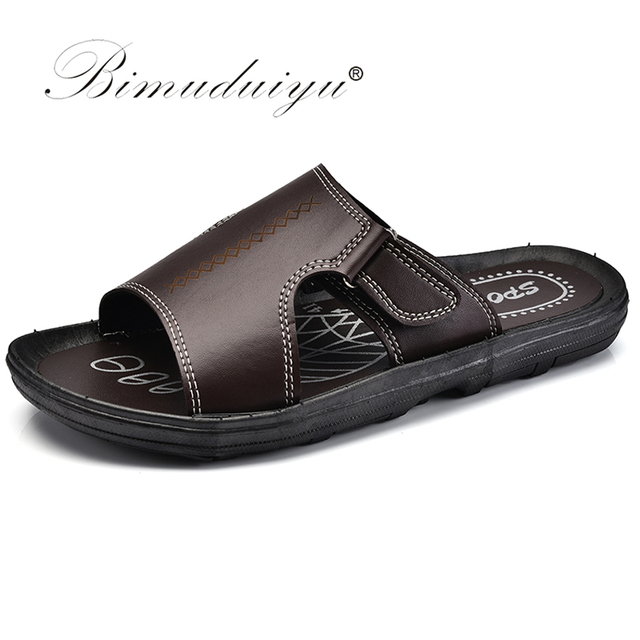 8e7c43bc7937c BIMUDUIYU Brand New Summer Shoes Men s Slippers Non-slip Open Toe Flip Flop
