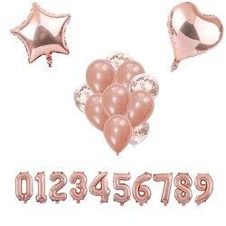 Rose Gold Konfetti Latex Luftballons Sets Braut/Baby Dusche DIY Liebe Hochzeit Dekoration Geburtstag Partei Liefert Globos Kinder Spielzeug