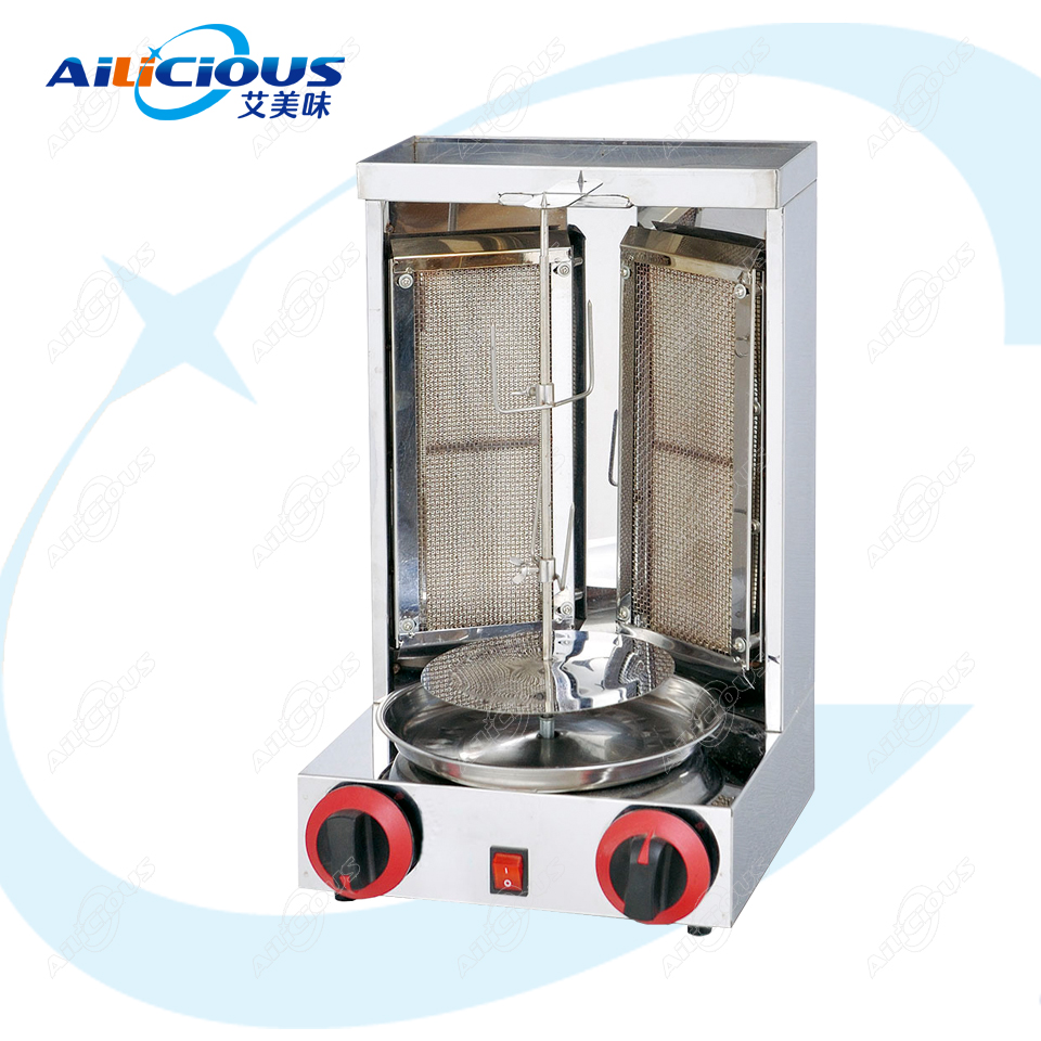 OT25 Commercial  Stainless Steel Electric Shawarma Broiler Grill Machine Vertical Kebab Roaster Middle East Rotisserie Equipment