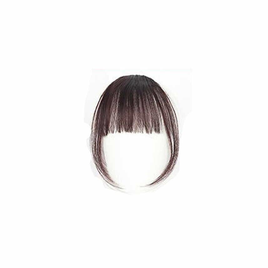 1 шт. Красивая заколка для девочек на клипсе спереди короткая челка для наращивания волос тонкая Прямая доставка мини-парик с воздушными рогами удлинение челки X