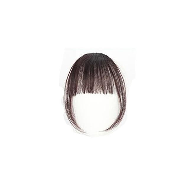 Girls Clip In Front Bang Fringe Hair Extension 4