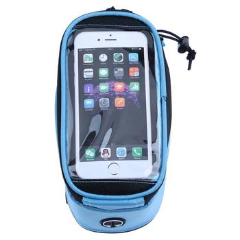 Cycling Phone Bag MTB Bicycle Road Bike Front Tube Bag Waterproof Bike Frame Bag Touch Screen Phone Case Holder for 4.8-5.5 pochette étanche pour téléphone