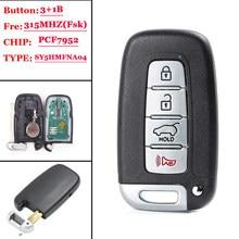(1 Pcs) 315 MHz PCF7952 Chip FCC: SY5HMFNA04 3 + 1 4 Inteligente Botão do Controle Remoto Fob Chave para Kia Sportage Alma, para Hyundai Elantra Genesis