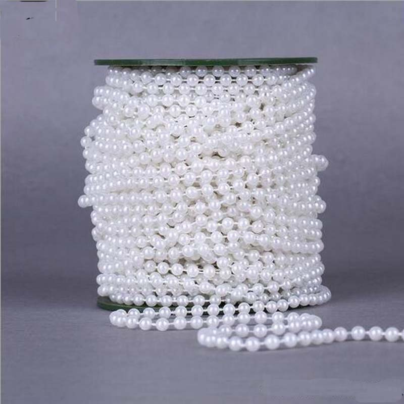 Pearl Garland For Christmas Tree: 3Kinds 5Meters/LotDIA 5MM Artificial Pearl Bead Chain