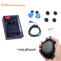 In Stock Orginal KZ Earphones ZS5 2DD 2BA Bluetooth Wireless In Ear Earphone HIFI Monitor DJ