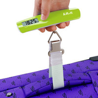 070468 Mini Hand Held Electronic Scale Portable Courier Luggage Spring Balance LCD Screen Display Humanized Design