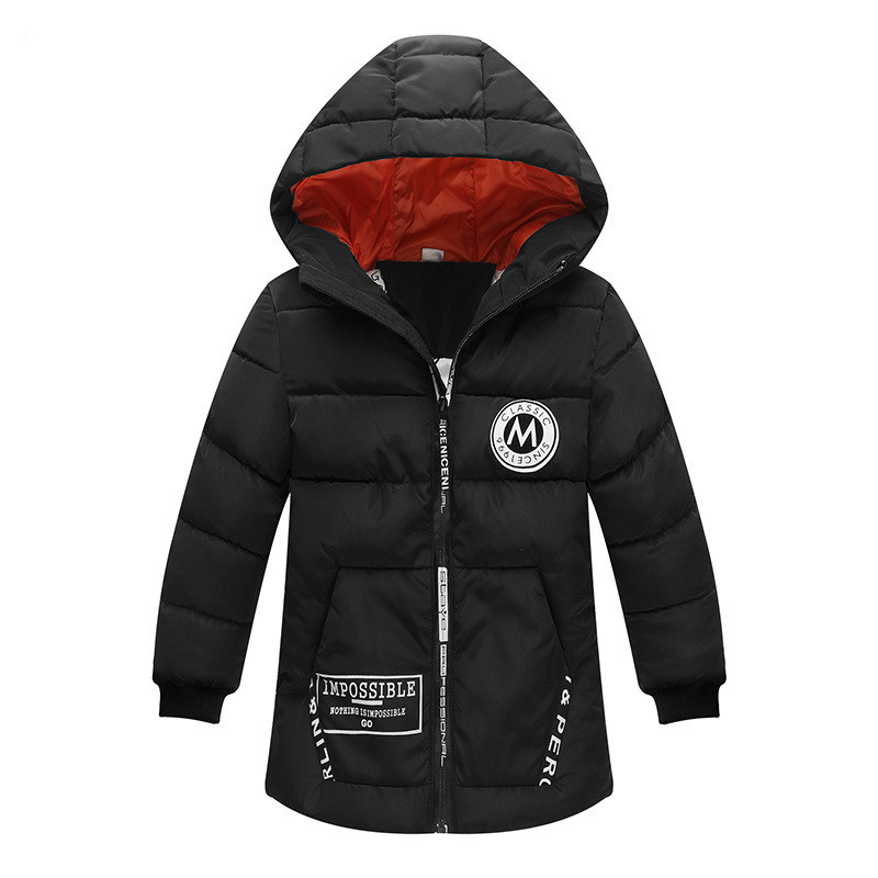 2018 Winter Boys & Girls Jacket Coat Children Clothes Park Parkas Wadded Jackets Casual Hooded Outerwear 110-150 High Quality 2017 new winter women wadded jacket outerwear plus size hooded loose thickening casual cotton wadded coat parkas student ws299