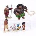 Princesa Moana 5 pçs/set Moana Maui Heihei Waialik Chefe Tui Figuras Brinquedos para Crianças Presentes