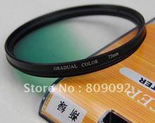 72mm Green Graduated Lens Filter for Digital Camera
