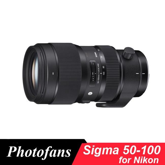 Sigma  50-100mm F/1.8 DC HSM Art Lens For Nikon D500 D7500 D7200 D7100 D7000 D90 D300  D5600 D5500 D5300 D5200 D3400 D3300 D3200