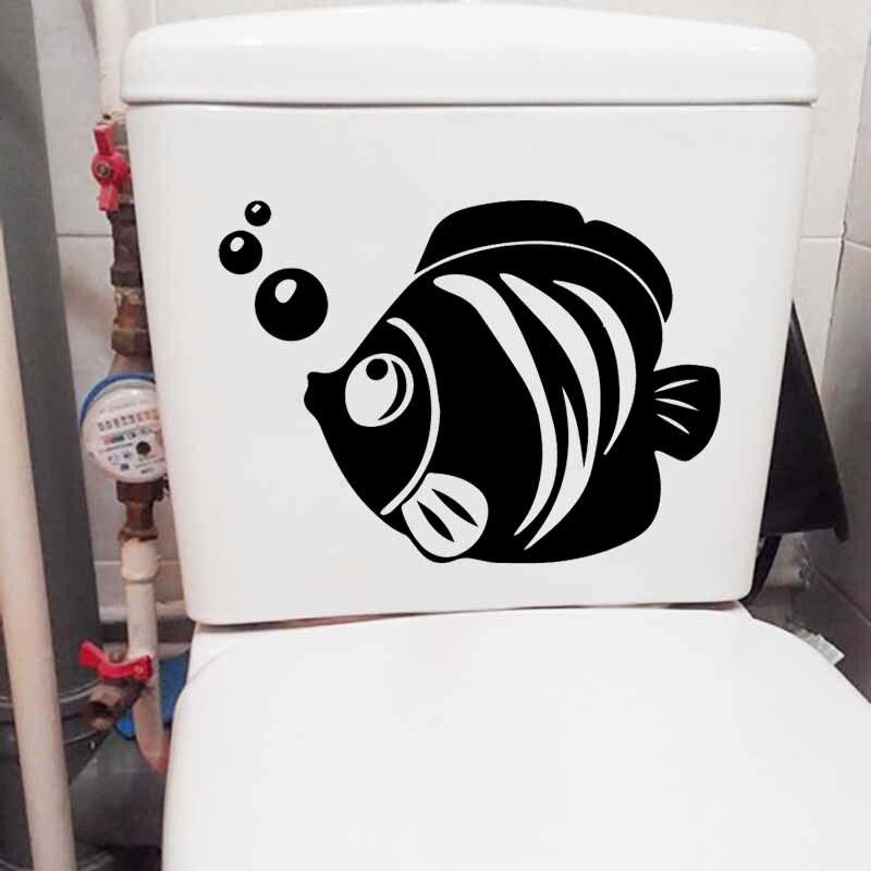 17.6X23.9CM Cute Cartoon Cat Wall Decal Living Bedroom Home Decor Toilet Sticker