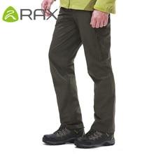 Rax Autumn And Winter Outdoor Waterproof Windproof Trousers Men Warm Thermal Hiking Pants Fleece Softshell Pants Sport Pants