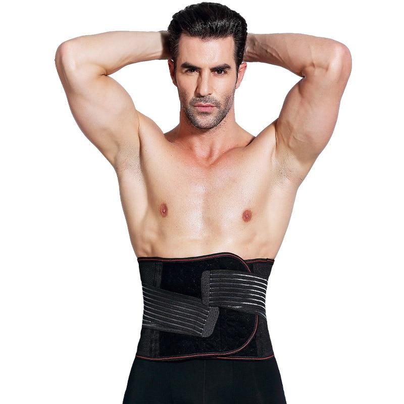 Men Waist Trainer Corset Slimming Belt For Men Abdominal Waist Cincher Corset Plus Size Adjustable Unisex Girdle Belt Trimmer