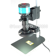 Cheapest prices 2.0MP HD 2 in 1 Digital Industry Industrial Microscope Camera Magnifier VGA AV TV Output+C-Mount Lens+Stand Holder+Ring Light