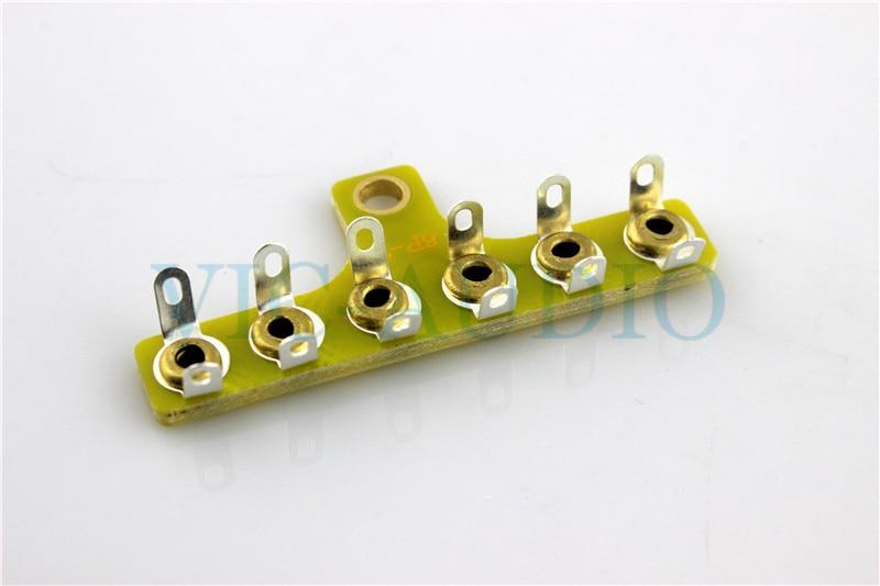 5PCS DIY Amplifier Accessories Projects Audio 6PINS Test Board Turret Board