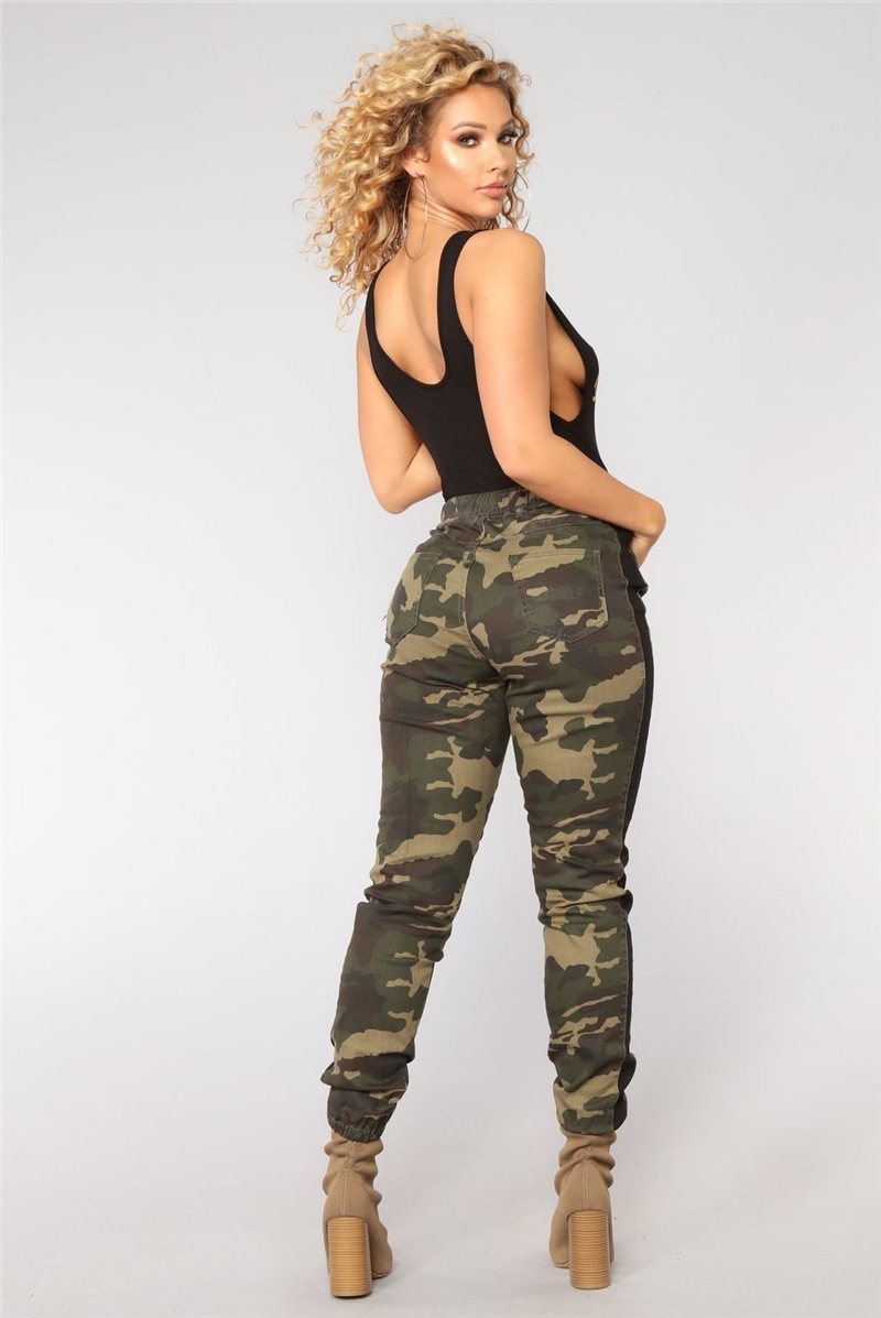 Women New Fashion Casual Camo Pants Clothes Leggings Cargo Floral Stretchy Military Army Skinny Camouflage Pencil Pants