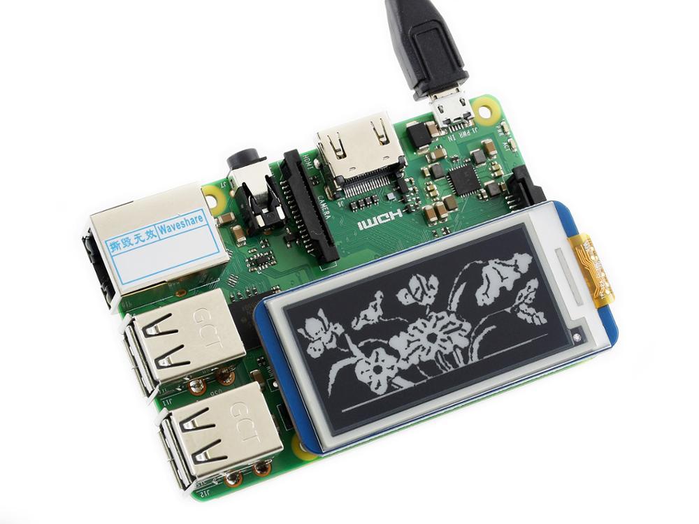 Waveshare 2.13 polegada e-ink display hat para raspberry pi 250x122 resolução e-paper spi suporta atualização parcial versão 2