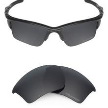Mryok + P OLARIZEDต่อต้านน้ำทะเลเลนส์แทนOakleyครึ่งแจ็คเก็ต2.0 XLแว่นกันแดดชิงทรัพย์สีดำ
