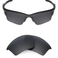 Mryok + POLARIZE Dayanıklı Deniz Suyu Yedek Lensler Oakley Yarım Ceket 2.0 XL Güneş Gözlüğü Stealth Siyah