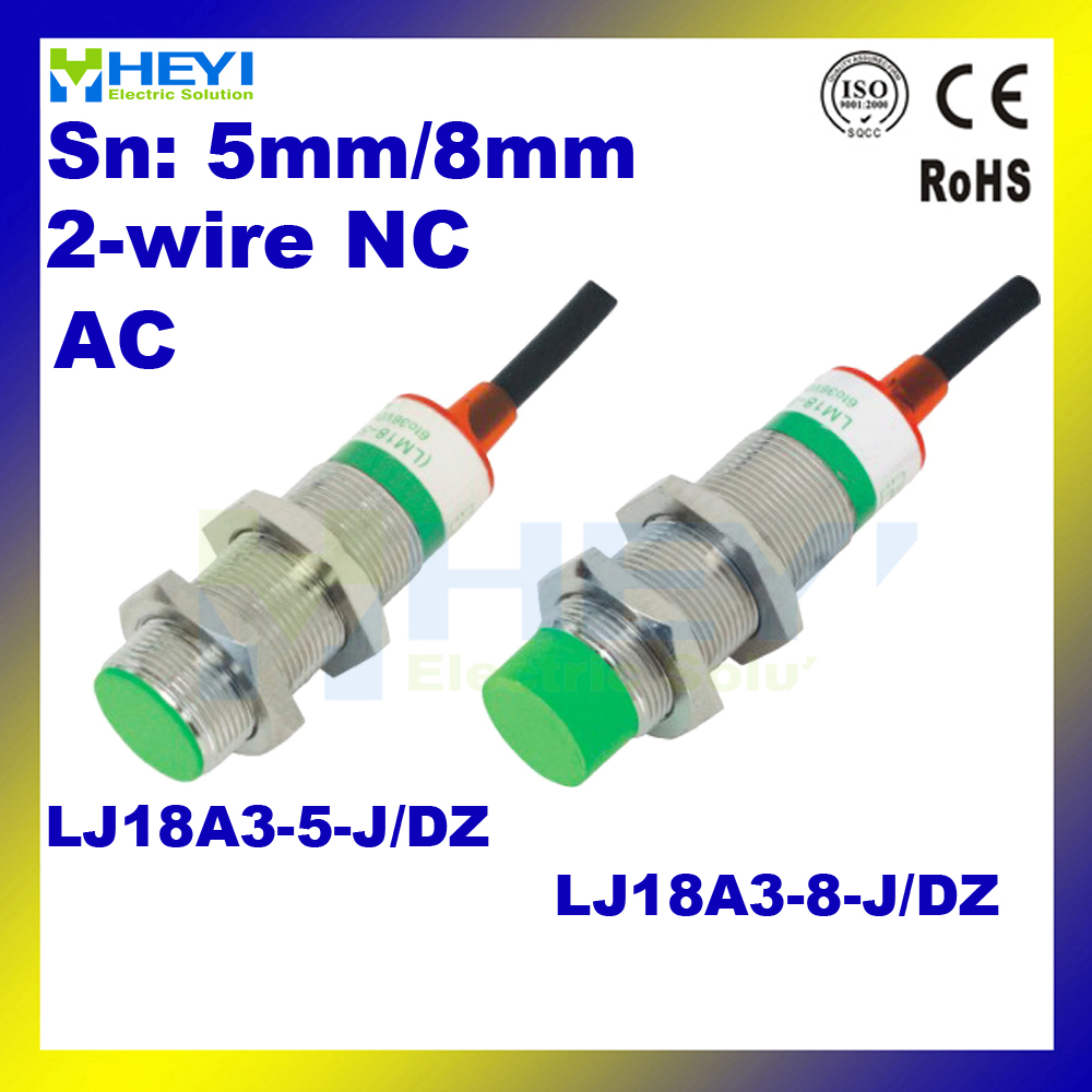 medium resolution of inductive proximity switch 5pcs lot proximity switch lj18a3 8 j dz ac 2 wire nc in switches from lights lighting on aliexpress com alibaba group