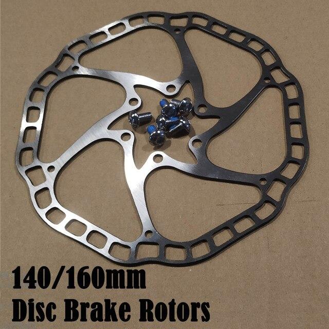 Rotores de freno de disco hidráulico de bicicleta con pernos, Rotor de disco de freno de bicicleta de carreras de carretera MTB 160mm/140mm 44mm