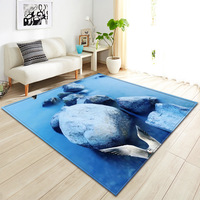 Beautiful Cobblestone Blue Sea Beach Carpets For The Modern Living Room Children's Rug Sajad Burrito Blanket Bedroom Floor Cover