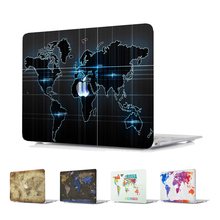 World Map Print Plastic Hard Laptop Case for MacBook Air Pro Retina 11 12 13 15 Inch Case for Macbook A1707 A1706 A1708 Case laptop case for macbook air 13 11 new pro 13 15 12 retina touch bar custom diy print protect cover for a1706 a1707 a1708 case