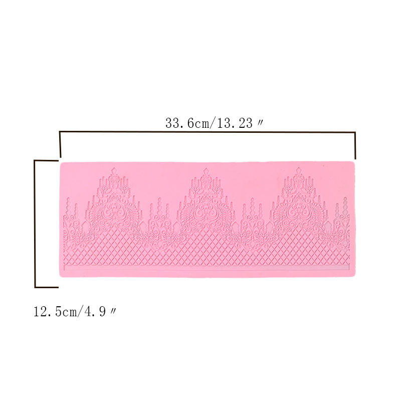 Image 3 - Aomily Lace Jewellery Wedding Cake Silicone Beautiful Lace Fondant Mold Mousse Sugar Craft Icing Mat Pad Pastry Baking Pad Tool-in Cake Molds from Home & Garden