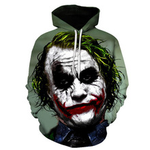 2019 Men Horror Clown Autumn Drawstring 3D Printed Hoodies Men Women Hoodies 3D Print Hoody Casual Pullovers Streetwear Hoody