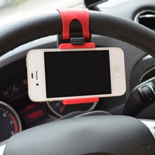 1Pcs Phone Holder for Car Steering Wheel Mobile Phone Holder Bracket for GPS