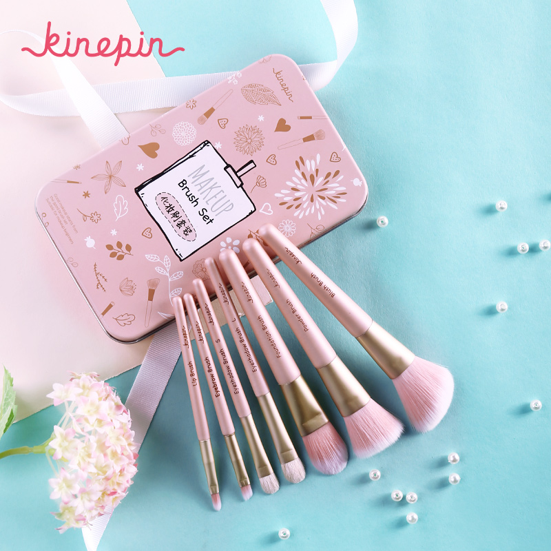 KINEPIN Premium Makeup Brush Set High Quality Soft Natural Horse Pony Synthetic Hair Portable Makeup Artist Brush with Case soft makeup brush 1pc