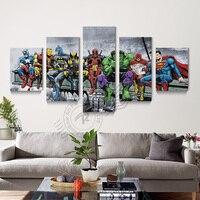 5 Painel Bat Man Movie Poster Da Arte Da Lona Pintura A Óleo Para Casa Cópia Da Lona do Retrato Da Parede Para Sala de estar decoração Modular Unframd BR0135